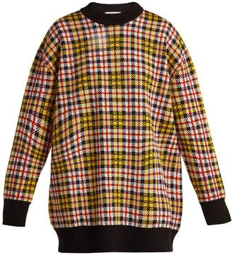 MSGM Checked wool-blend sweater