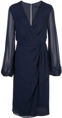 Jay Godfrey wrap style midi dress