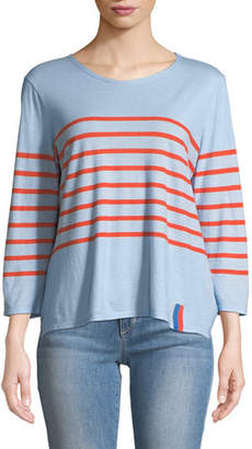 Kule The Malibu Striped 3/4-Sleeve Top