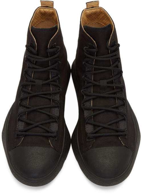 51b5097fa6854 Y-3 Black Bashyo High-Top Sneakers detail image