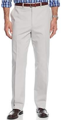 Michael Kors MICHAEL Twill Flat Front Khaki Pants Gray 36/32