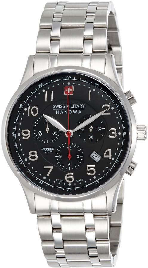 Swiss Military Hanowa Men's Patriot 06-5187-04-007 Stainless-Steel Quartz Watch with Black Dial