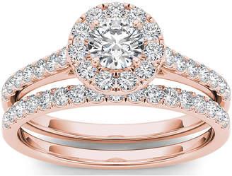 MODERN BRIDE 1 CT. T.W. Diamond 10K Rose Gold Bridal Set