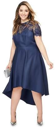 Lipsy Chi Chi London - Navy Lace 'Jasper' Midi Plus Size Dress