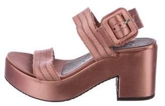 Pedro Garcia Satin Platform Sandals