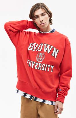 Champion Brown University Crew Neck Sweatshirt