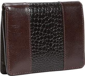 Leatherbay Wallet With Croc Accents