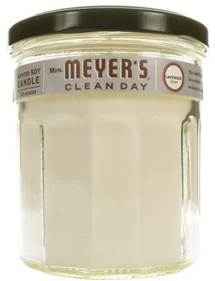 Mrs. Meyer's Clean Day Scented Soy Candle, Large Glass, Lavender, 7.2 ounce