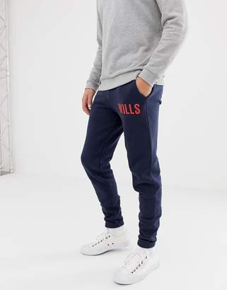 Jack Wills Goudhourst large logo sweat joggers in navy