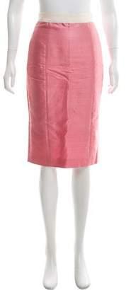 Dolce & Gabbana Linen- Blend Pencil Skirt