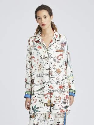 Oscar de la Renta Silk Road King Twill Pajama Shirt