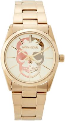 Zadig & Voltaire ZVT002 Gold-Tone Timeless Skull Watch