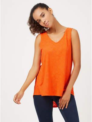 George Orange Geometric Burnout Vest Top