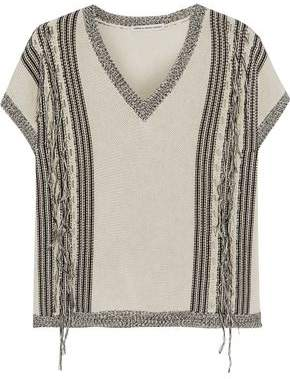Autumn Cashmere Fringed Cotton Sweater