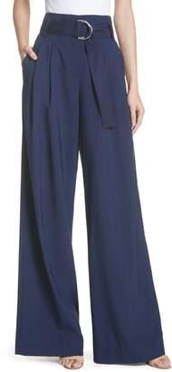 Diane von Furstenberg Belted Wide Leg Pants