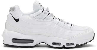 Nike White and Black Air Max 95