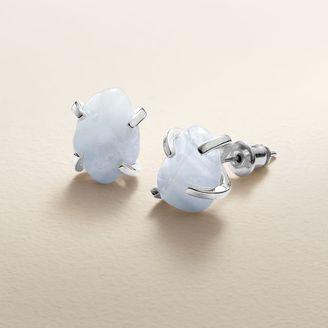 LC Lauren Conrad Runway Collection Blue Quartz Stud Earrings $12 thestylecure.com