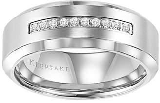 Keepsake Sebastian 1/10 Carat T.W. Certified Diamond Stainless Steel Band, 8mm