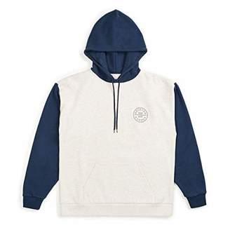 Brixton Men's Oath II Relaxed Standard Fit Hood Fleece Sweatshirt