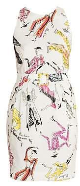 Moschino Women's Sleeveless Printed Sheath Dress