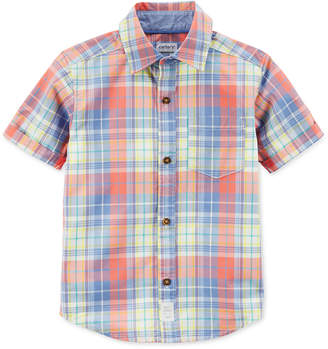 Carter's Plaid Cotton Shirt, Little Boys