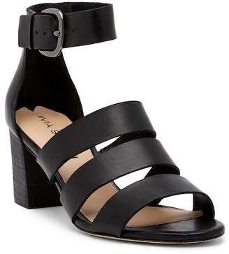 Via Spiga Carys Leather Block Heel Sandal