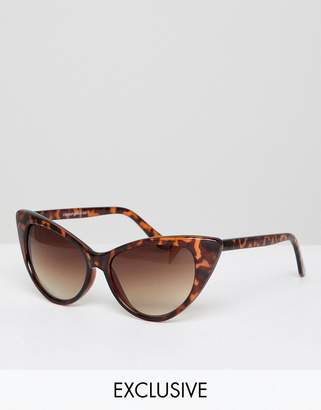 Reclaimed Vintage Inspired Cat Eye Sunglasses In Tort Exclusive To ASOS