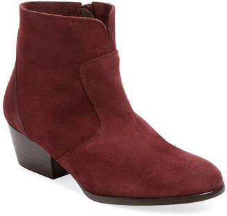 Firth Notched Leather Ankle Bootie