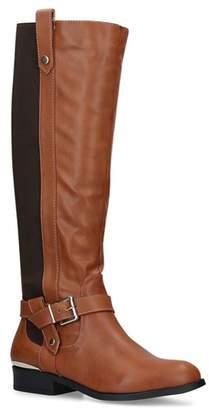 de39145be5f7 at Debenhams · Carvela Comfort - Tan  Taylor  Low Heel Knee High Boots