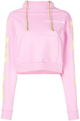 House of Holland cropped hypnotic sweatshirt