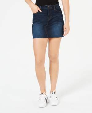 Vanilla Star Juniors' Ripped Denim Mini Skirt