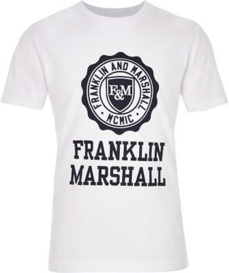 River Island Boys white Franklin and Marshall print T-shirt