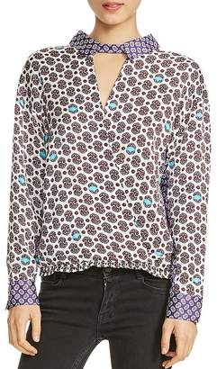 Maje Lipsa Mixed-Print Top