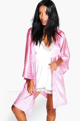 boohoo Madison Candy Stripe Robe