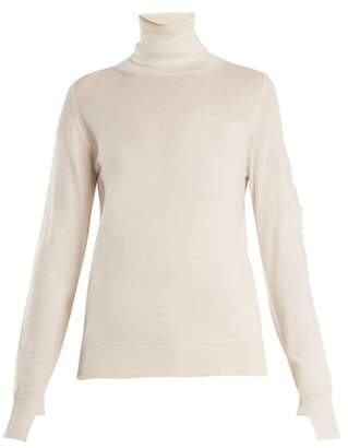 Barrie - Thistle Roll Neck Cashmere Sweater - Womens - Cream