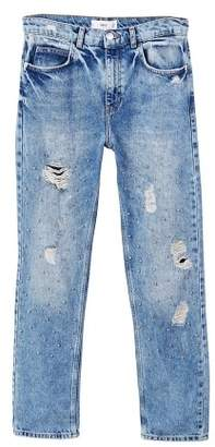 MANGO Pearl embroidery jeans