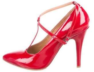 Maison Margiela Patent Leather Ankle Strap Pumps