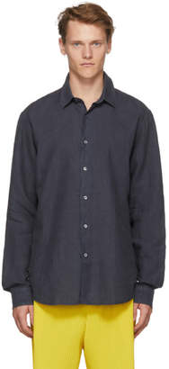 Hope Navy Linen Air Clean Shirt