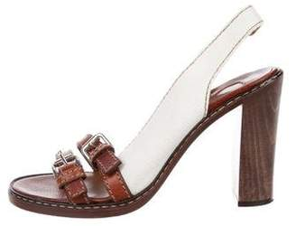 Chloé Woven Slingback Sandals