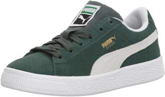 Puma Unisex-Kids Suede Classic Sneaker, Pine Needle White