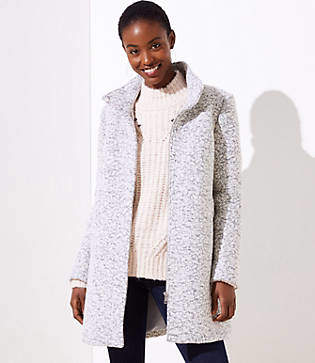 LOFT Tall Marled Funnel Neck Coat