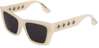 McQ Square Acetate Eyelet Sunglasses