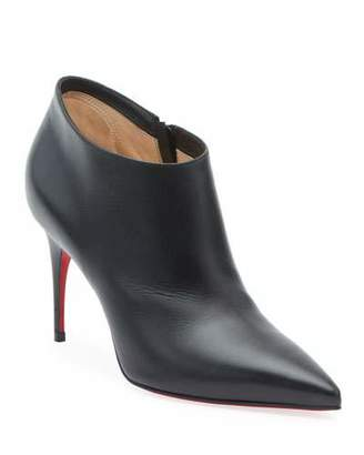 Christian Louboutin Gorgone 85 Leather Red Sole Booties