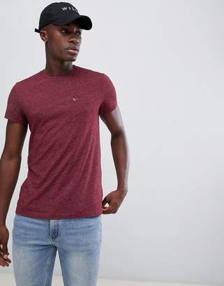Jack Wills Ayleford slim fit pocket t-shirt in burgundy
