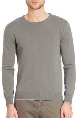 Eleventy Washed Cashmere Raglan Pullover