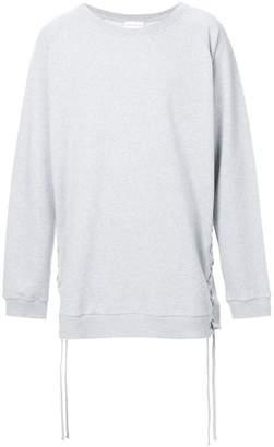Faith Connexion lace-up detail sweatshirt