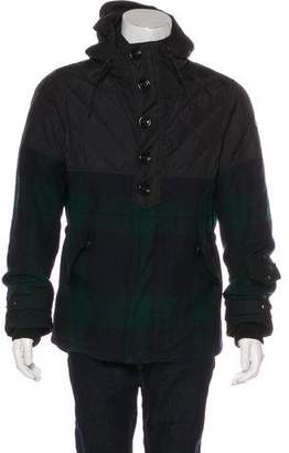 Moncler Altier Plaid Wool Down Jacket