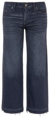 Simon Miller Let-out cuff paint stroke cropped culotte jeans