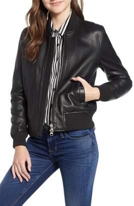 Hudson Leather Bomber Jacket