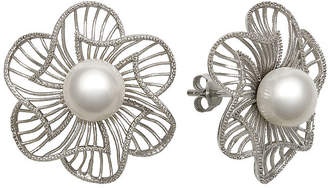 FINE JEWELRY Cultured Freshwater Pearl Sterling Silver Flower Earrings